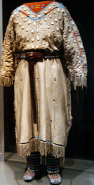 Native American Clothing- Crow Elk Tooth Dress, 1890