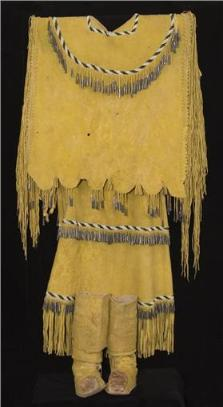 Native American Buckskin Clothing http://www.nativeamerican-art.com/apache-clothing.html